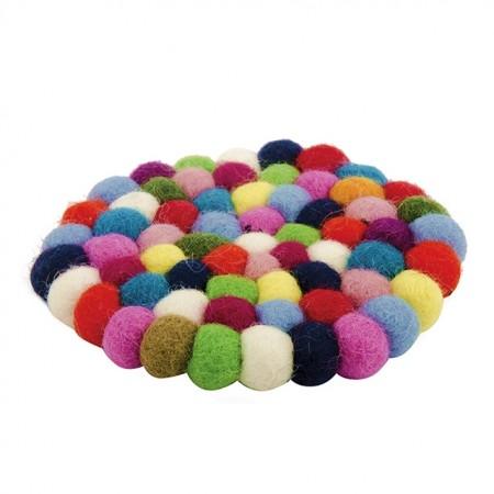 Fair Trade Felt Rainbow Ball Coaster