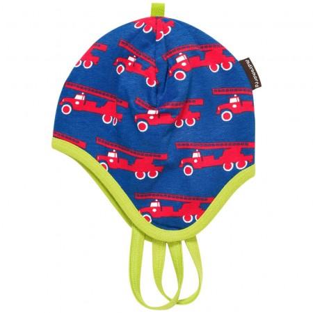 Maxomorra Fire Engine Baby Bonnet Hat