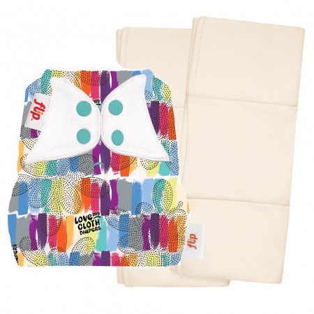 Flip Nappy Cover & Inserts Pack