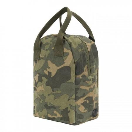 Fluf Zipper Lunch Bag - Camo