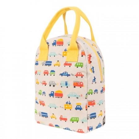 Fluf Zipper Lunch Bag - Cars