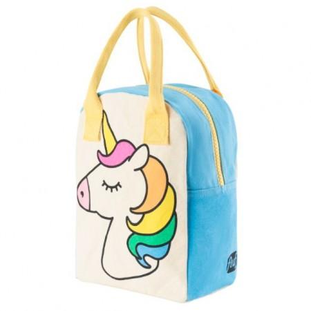 Fluf Zipper Lunch Bag - Unicorn