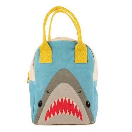 Fluf Zipper Lunch Bag - Shark
