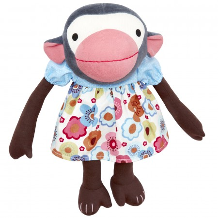 Franck & Fischer Frida Monkey Doll - Flower Dress