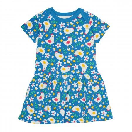 Frugi Aria Happy Hens Body Dress
