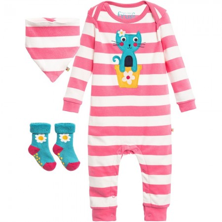 Frugi Bubbly Gift Set - Strawberry Stripe