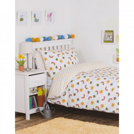 Frugi Sunny Buzzy Bee Single Bed Set