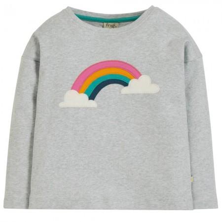 Frugi Bethany Boxy Rainbow Top