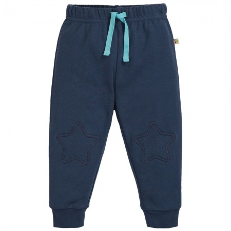 Frugi Blue Kneepatch Crawlers