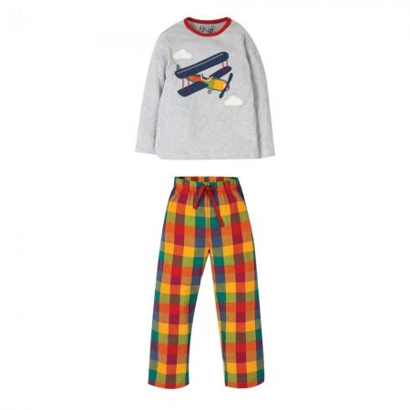 Frugi Caden Check Plane Pyjamas