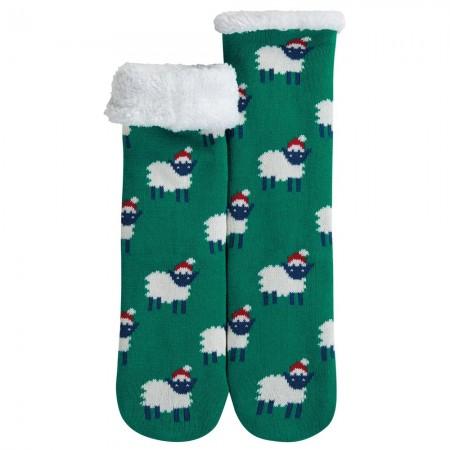 Frugi Cosy Up Festive Sheep Socks