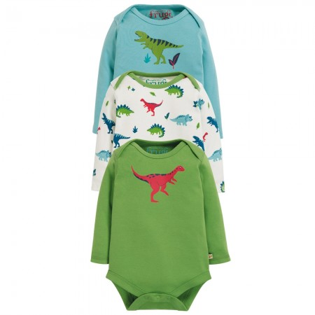 Frugi Dino Super Special Body 3 Pack