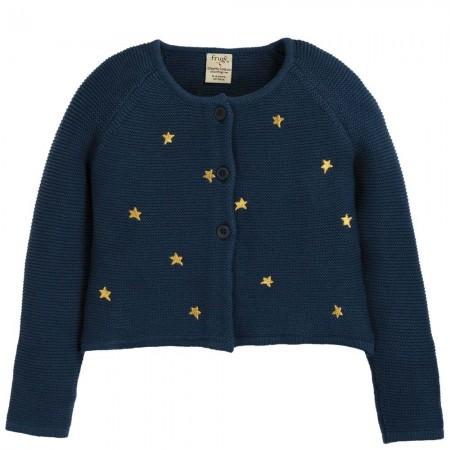 Frugi Emilia Embroidered Stars Cardigan