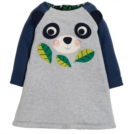 Frugi Floral Panda Peek A Boo Dress