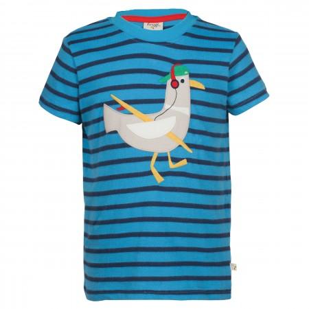 Frugi Fowey Applique T-shirt - Harbour Blue/Seagull