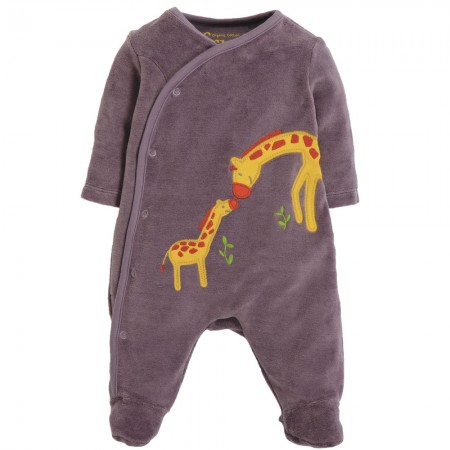 Frugi Giraffes Little Swoop Babygrow