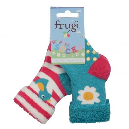 Frugi Birdy Grippy Socks 2 Pack