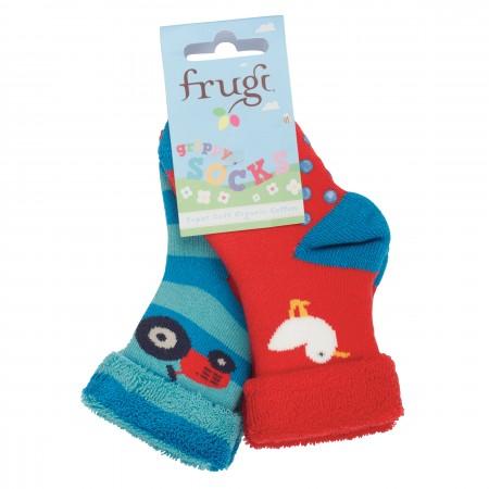 Frugi Farm Grippy Socks 2 Pack
