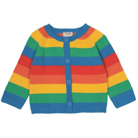 Frugi Cardigan Rainbow Stripe