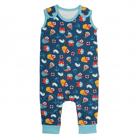 Frugi Kneepatch Dungarees - Day At The Seaside