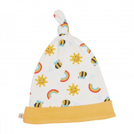 Frugi Lovely Knotted Hat - Sunny Buzzy Bee
