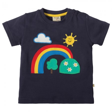 Frugi Rainbow Little Creature Applique T-shirt
