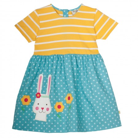 Frugi Little Prussia Bunny Dress