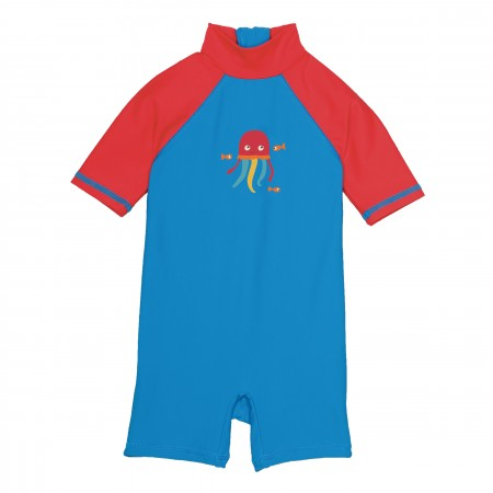 Frugi Sun-Safe Suit - Diver Blue/Jellyfish