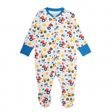 Frugi Lovely Babygrow - Farm Friends