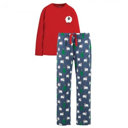 Frugi Men's Festive Sheep Comet Pyjamas