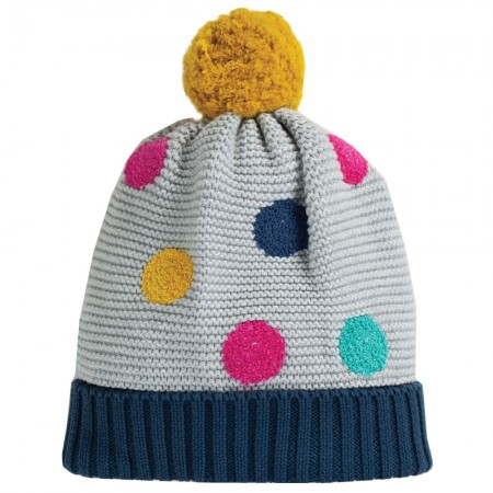 Frugi Multi Spot Evie Embroidered Bobble Hat