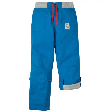 Frugi Blue Adventure Roll Up Pants