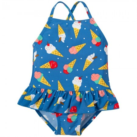 Frugi Ice Cream Dream Little Coral Swimsuit