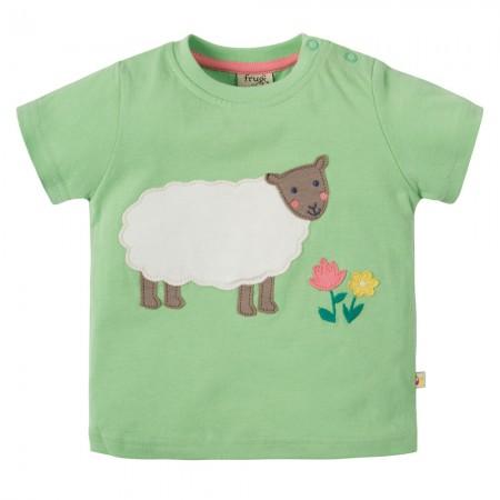 Frugi Sheep Little Polkerris Applique T-Shirt