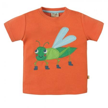 Frugi Grasshopper Little Creature Applique SS Top