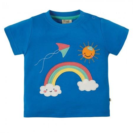 Frugi Rainbow Little Creature Applique Top