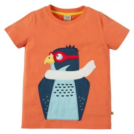 Frugi Peregrine Falcon Stanley Applique T-Shirt