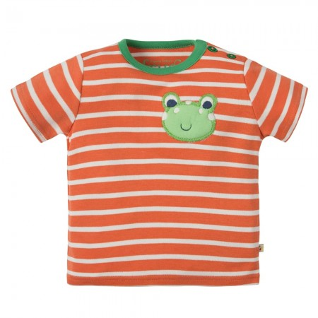 Frugi Frog Wilbur Applique T-Shirt