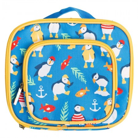 Frugi Paddling Puffins Pack A Snack Lunch Bag