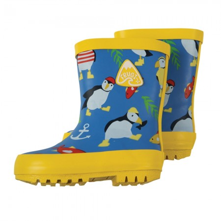 Frugi Paddling Puffins Puddle Buster Wellies
