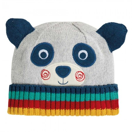 Frugi Panda Friendly Face Knitted Hat