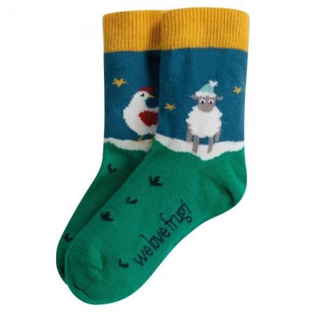 Frugi Perfect Pair Festive Friends Socks