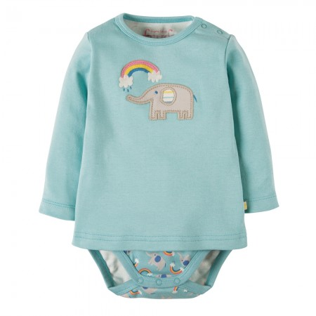 Frugi Elephant 2 in 1 Poppet Top