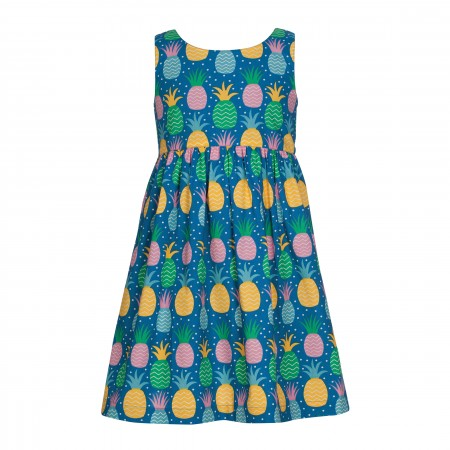Frugi Porthcurno Party Dress - Jazzy Pineapple