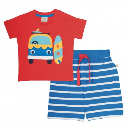 Frugi Porthleven Outfit - Tomato/Camper