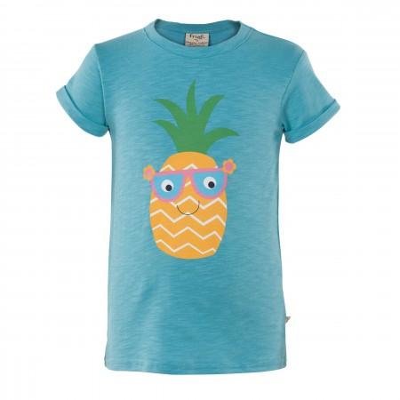 Frugi Praa Printed T-shirt - Aqua/Pineapple