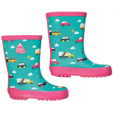 Frugi Rainbow Roads Puddle Buster Wellies