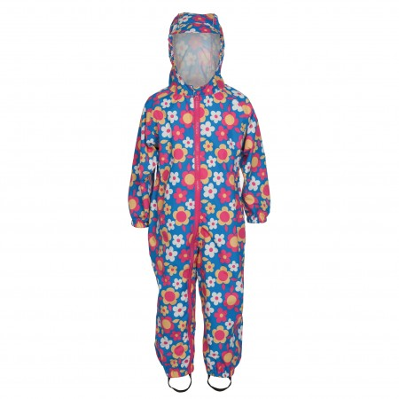 Frugi Puddle Buster Suit Summer Garden