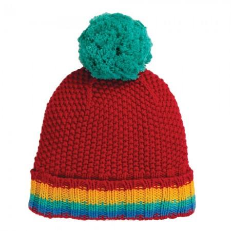 Frugi Rainbow Blizzard Bobble Hat
