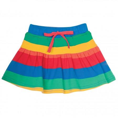 Frugi Little Rainbow Stripe Skort